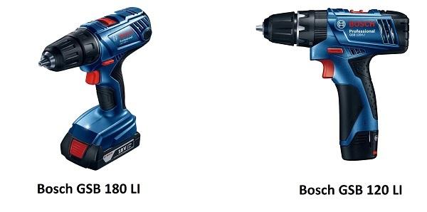 Thiết kế của GSB 120 LI và GSB 180 LI