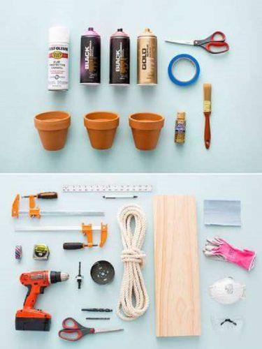 Các vật liệu cần thiết để làm kệ gỗ