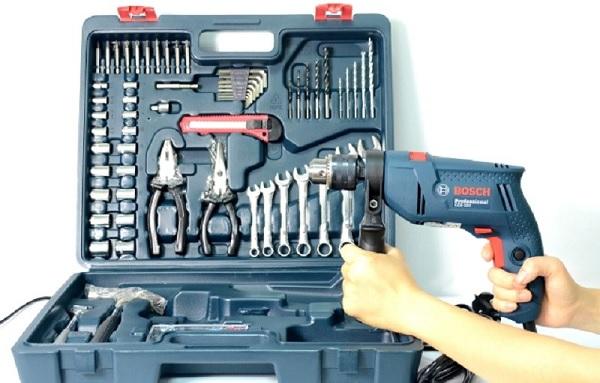 Bộ máy khoan Bosch GSB 550 Set 100 món