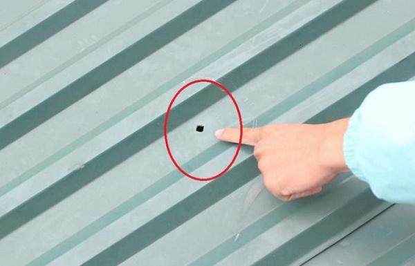 Mái tôn bị dột do nhiều nguyên nhân