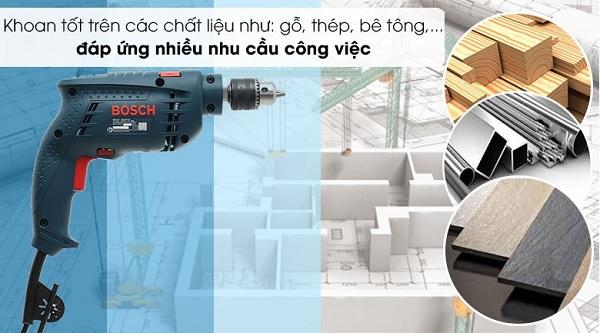 Bosch GSB 10 RE cung cấp khả năng làm việc đa chức năng