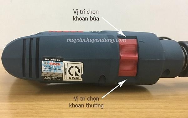 Bosch GSB 550 được trang bị nút chọn tốc độ khoan