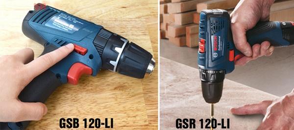 Bosch GSB 120-Li trang bị động cơ có búa khoan tường tốt