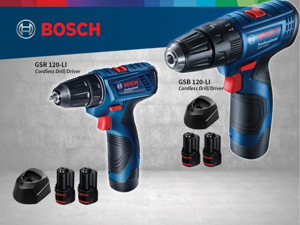 Lựa chọn máy khoan pin Bosch 12V phù hợp với từng công việc