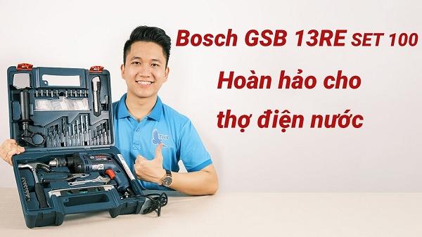 Bosch GSB 13RE SET 100 mang lại nhiều giá trị sử dụng
